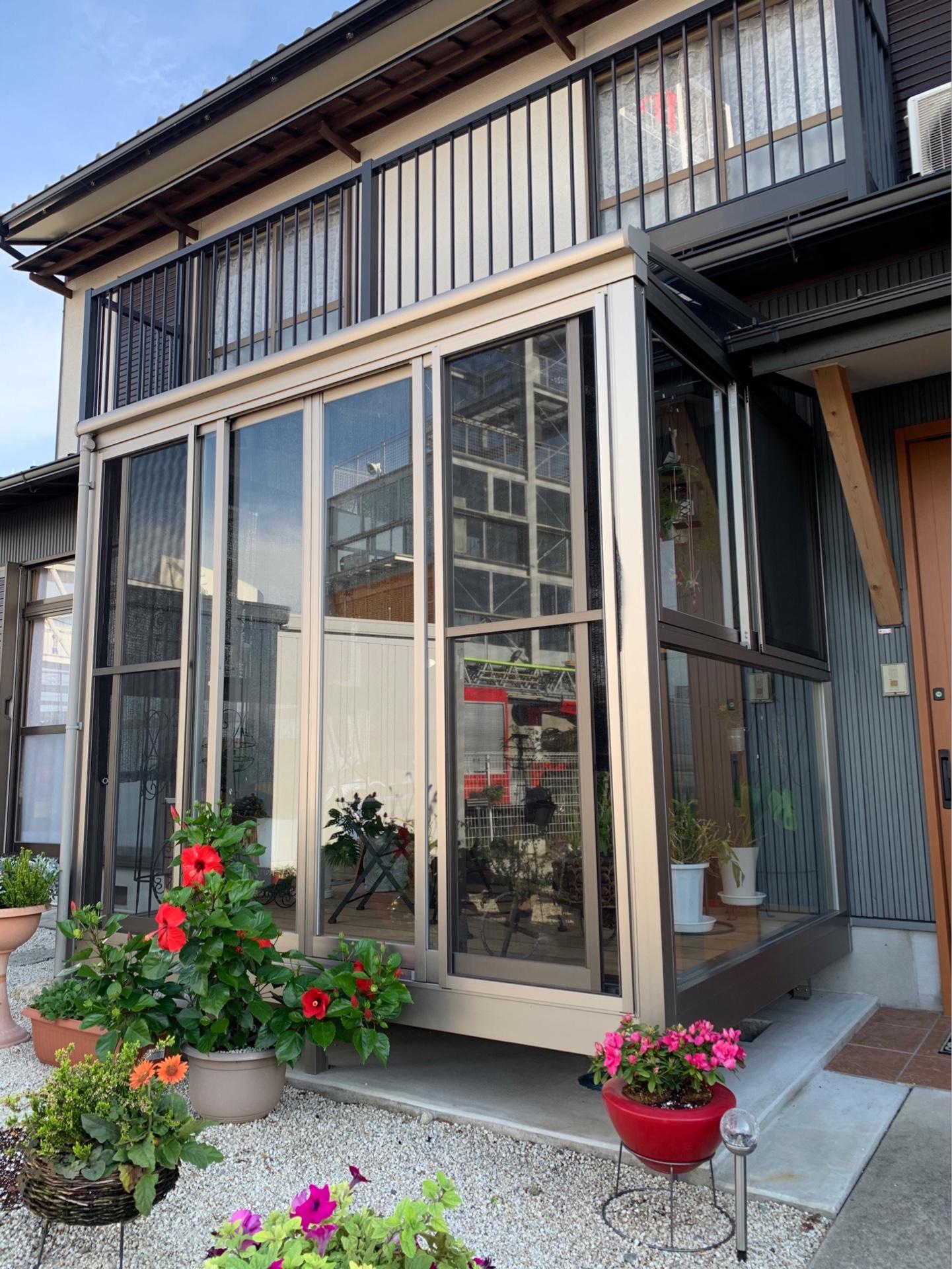 愛知県豊明市 サンルーム設置工事 2019/10/27