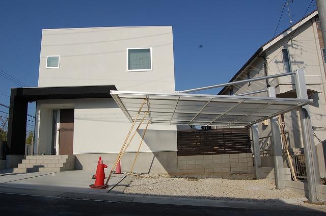 名古屋市緑区 使い勝手の良いカーポート(2台用)エクステリア