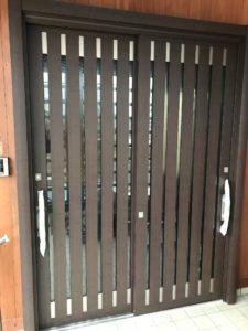 大府市LIXIL リシェント玄関引き戸 完成写真