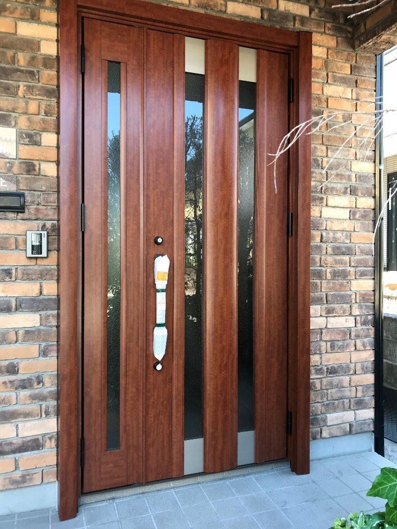 大府市 リシェント玄関ドア3 取付工事