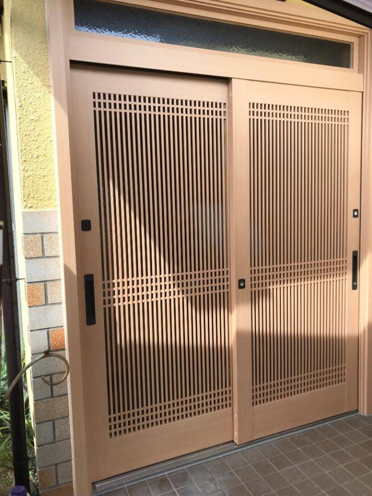 LIXIL リシェント玄関引戸 取付工事