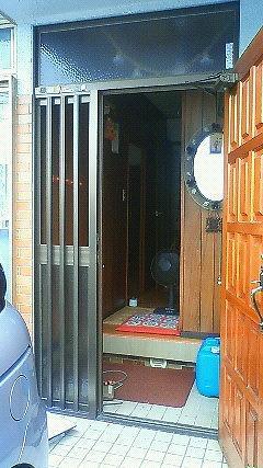 大府市 ホンダトーヨー 玄関ドア取替・採風工事 2011/08/09