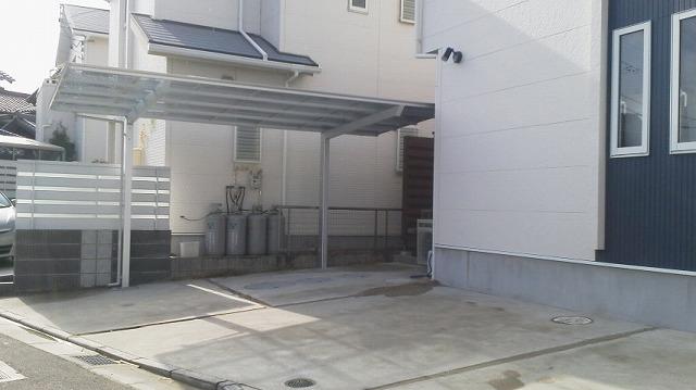大府市 ホンダトーヨー カーポート設置工事 2012/01/27