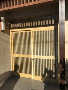 大府市 LIXILリシェント玄関引戸 取付工事 2019/12/09