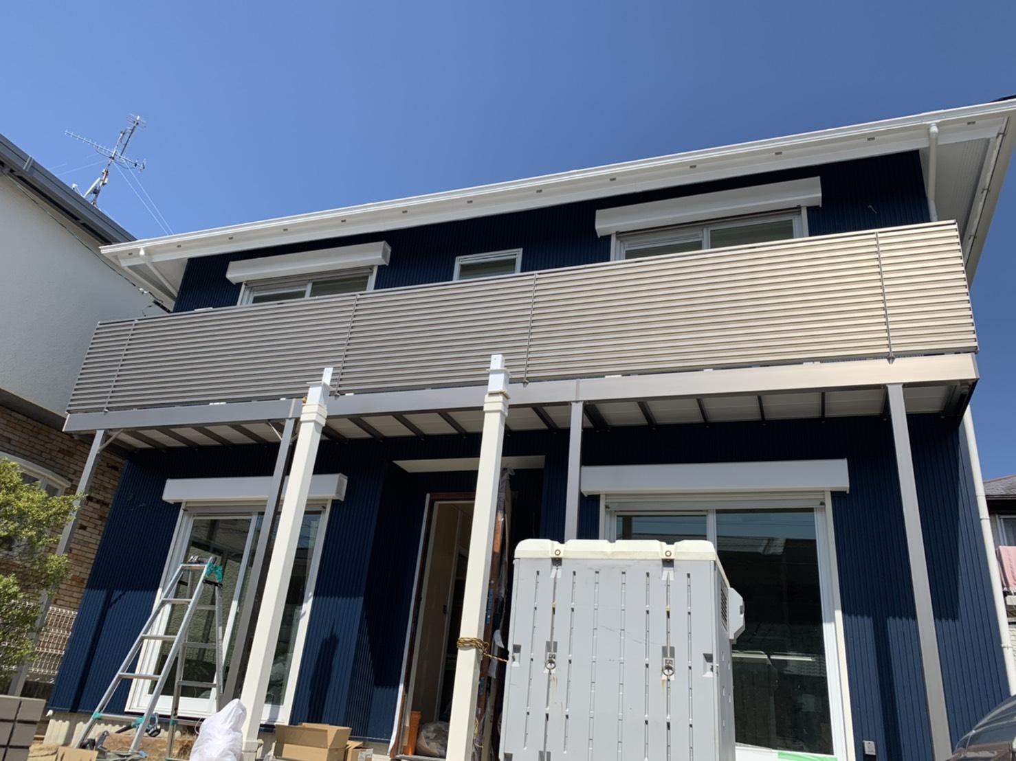 愛知県豊明市 エクステリア工事店 リクシル アルミ手摺り取付工事